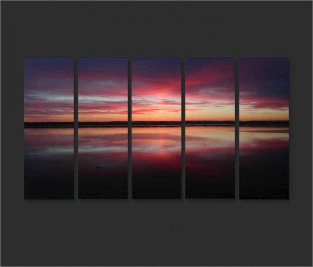 Modern Contemporary oil paintings on Canvas sunset glow painting set680