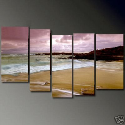 Modern Contemporary oil paintings on Canvas sunset glow painting set684