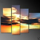 Modern Contemporary oil paintings on Canvas sunset glow painting set694