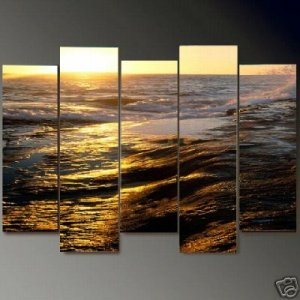 Modern Contemporary oil paintings on Canvas seascape painting set698