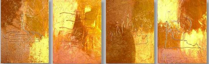 Modern Contemporary oil paintings on Canvas abstract painting set 009