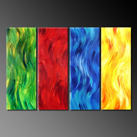 Modern Contemporary oil paintings on Canvas abstract painting set 383