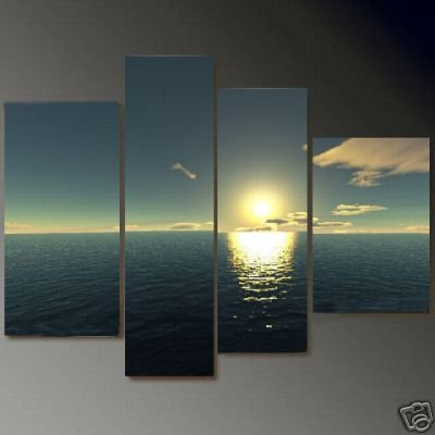 Modern Contemporary oil paintings on Canvas setting sun painting set 675
