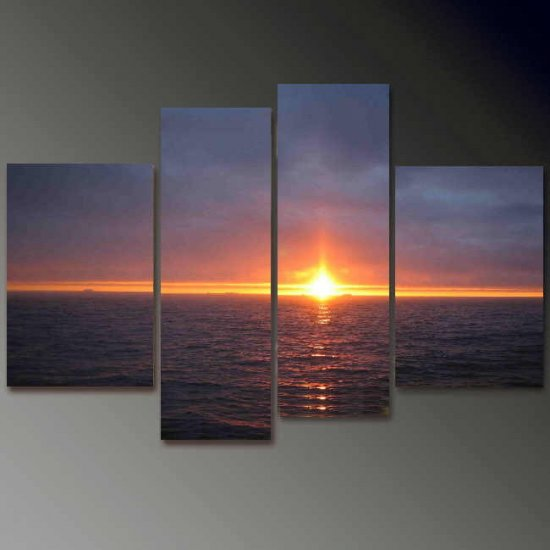Modern Contemporary oil paintings on Canvas sunset glow painting set 676