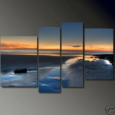 Modern Contemporary oil paintings on Canvas seascape painting set681