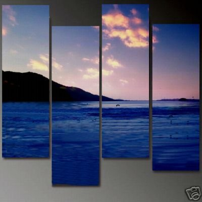 Modern Contemporary oil paintings on Canvas seascape painting set 692