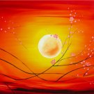 Modern Contemporary oil paintings on Canvas flower painting set 017