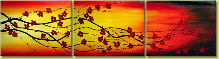 Modern Contemporary oil paintings on Canvas flower painting set 118