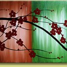 Modern Contemporary oil paintings on Canvas flower painting set 119