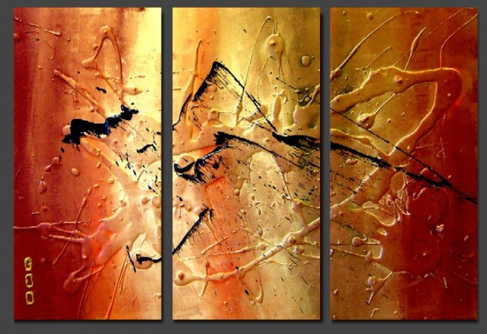 Modern Contemporary oil paintings on Canvas abstract painting set 121