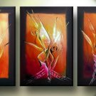 Modern Contemporary oil paintings on Canvas flower painting set 130