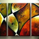 Modern Contemporary oil paintings on Canvas abstract painting set 137