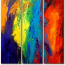 Modern Contemporary oil paintings on Canvas abstract painting set 187
