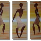 Modern Contemporary oil paintings on Canvas portrait painting set 221