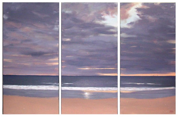 Modern Contemporary oil paintings on Canvas seascaoe painting set 287