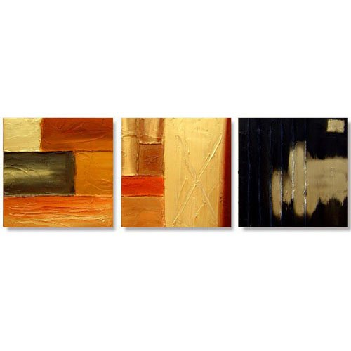 Modern Contemporary oil paintings on Canvas abstract painting set 309