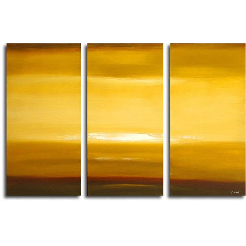 Modern Contemporary oil paintings on Canvas sunset glow painting set 308