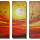 Modern Contemporary oil paintings on Canvas flower painting set 318