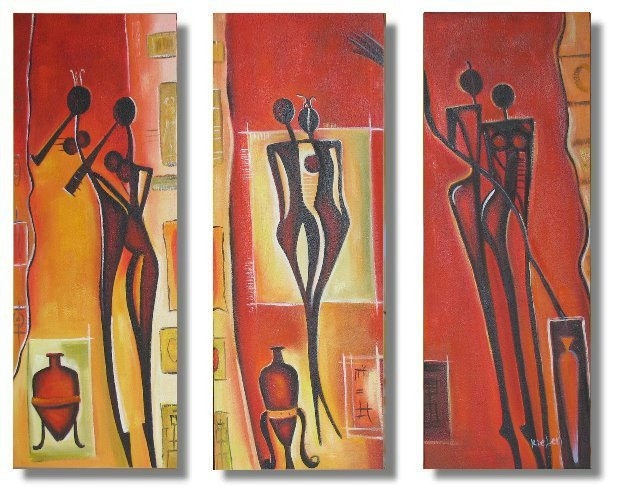 Modern Contemporary oil paintings on Canvas portrait painting set 321