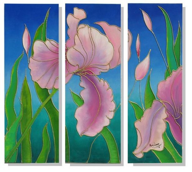 Modern Contemporary oil paintings on Canvas flower painting set 325