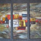 Modern Contemporary oil paintings on Canvas abstract painting set 333