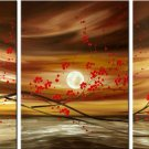 Modern Contemporary oil paintings on Canvas flower painting set 336