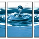 Modern Contemporary oil paintings on Canvas blue water drop painting set 338