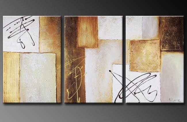 Modern Contemporary oil paintings on Canvas abstract painting set 351
