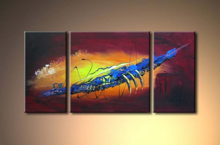 Modern Contemporary oil paintings on Canvas abstract painting set 356