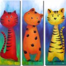 Modern Art Deco oil paintings on Canvas animal painting set 366