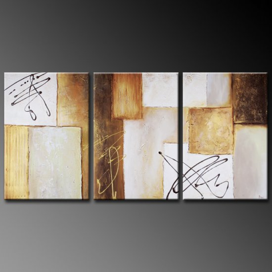Modern Art Deco oil paintings on Canvas abstract painting set 372