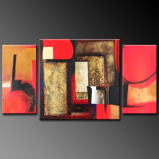 Modern Art Deco oil paintings on Canvas abstract painting set 373