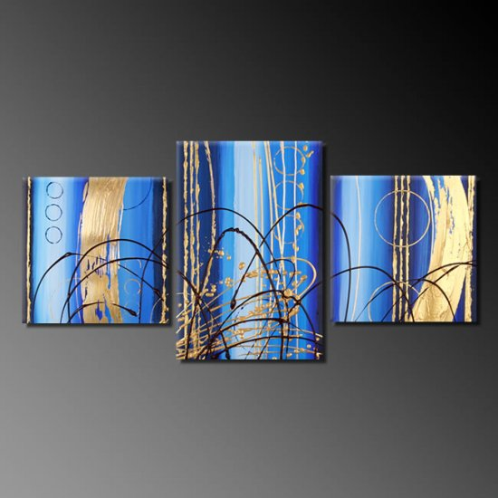 Modern Art Deco oil paintings on Canvas abstract painting set 382