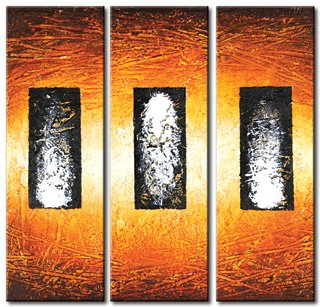 Modern Art Deco oil paintings on Canvas abstract painting set 384