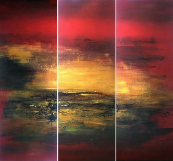 Modern Art Deco oil paintings on Canvas abstract painting set 401