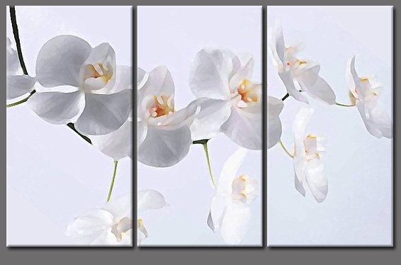 Modern Art Deco oil paintings on Canvas flower painting set 403