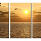 Modern Art Deco oil paintings on Canvas sunset painting set 413