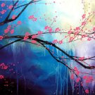 Modern Art Deco oil paintings on Canvas flower painting set 414