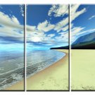 Modern Art Deco oil paintings on Canvas seascape painting set 420