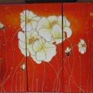 Modern Art Deco oil paintings on Canvas flower painting set 435