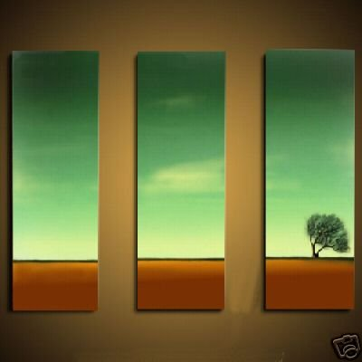 Modern Art Deco oil paintings on Canvas tree painting set 466