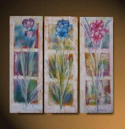 Modern Art Deco oil paintings on Canvas flower painting set 536
