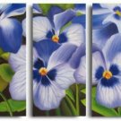 Modern Art Deco oil paintings on Canvas flower painting set 556