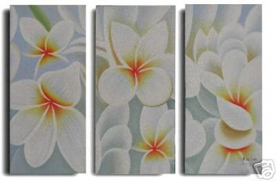 Modern Art Deco oil paintings on Canvas flower painting set 558
