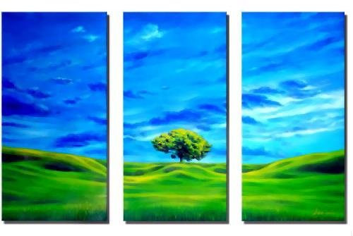 Modern Art Deco oil paintings on Canvas tree painting set 576