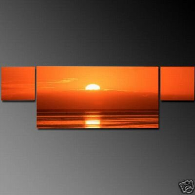 Modern Art Deco oil paintings on Canvas sunset glow painting set 602
