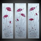 Modern Art Deco oil paintings on Canvas flower painting set 683