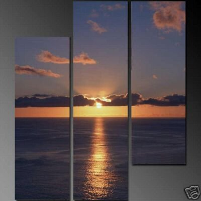 Modern Art Deco oil paintings on Canvas sunset glow painting set 688