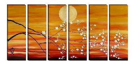 Modern contemporary oil paintings on canvas flower painting set 724