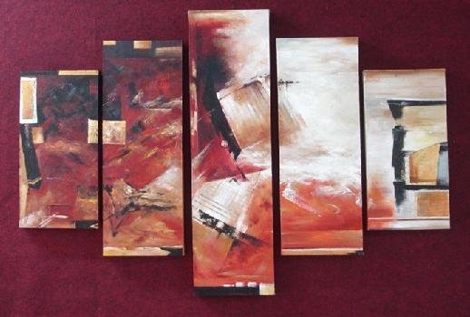 Modern contemporary oil paintings on canvas abstract painting set 725
